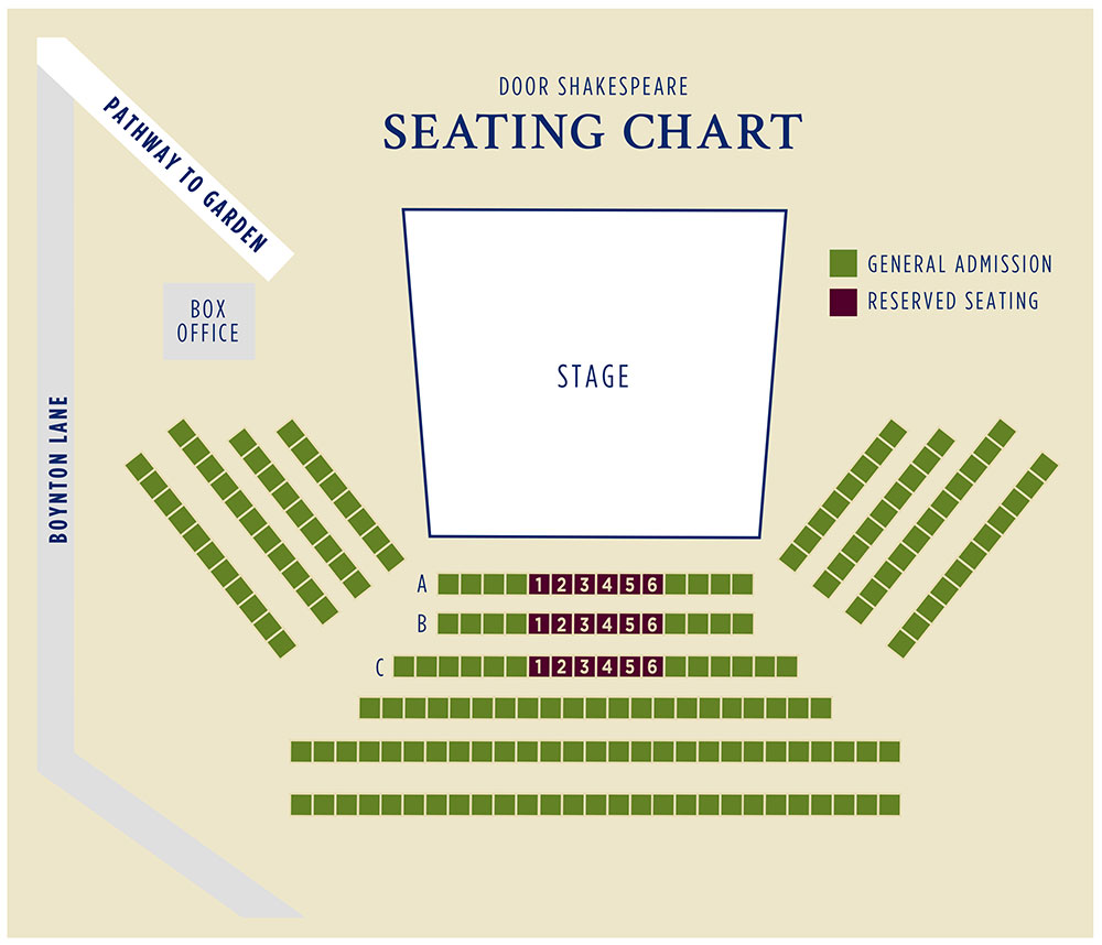 2016 Door Shakespeare Seating Chart