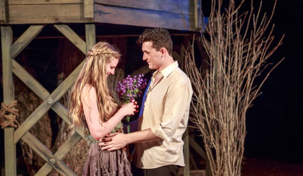 Grayson Heyl as Miranda and Andrew Carlyle Ferdinand- The Tempest