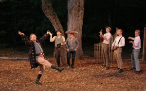 "Jason Fassl Door Shakespeare's cast performs the comedy ""Love's Labour's Lost"" in Baileys Harbor."