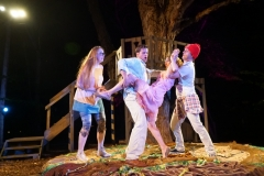 The lovers quarrel in A MIDSUMMER NIGHT'S DREAM directed by Joseph Hanreddy